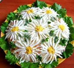 salat romashka recept