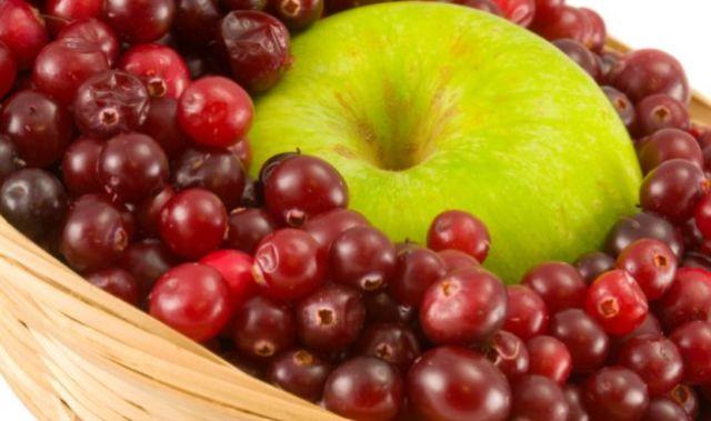 Клюква с яблоком
