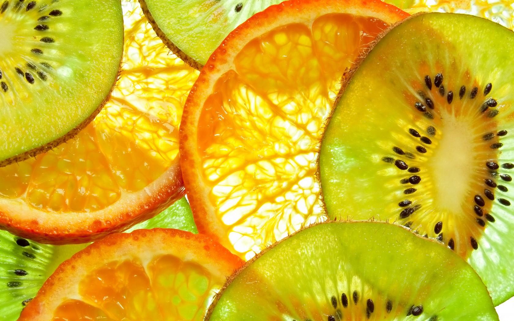 Апельсин с киви