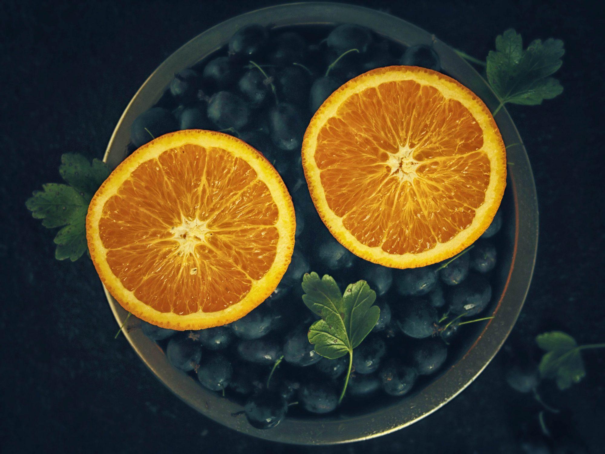Апельсиновый компот с крыжовником
