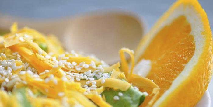 Апельсин и цедра лимона