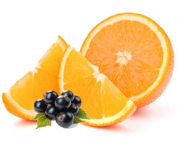 Апельсин с чёрной смородиной