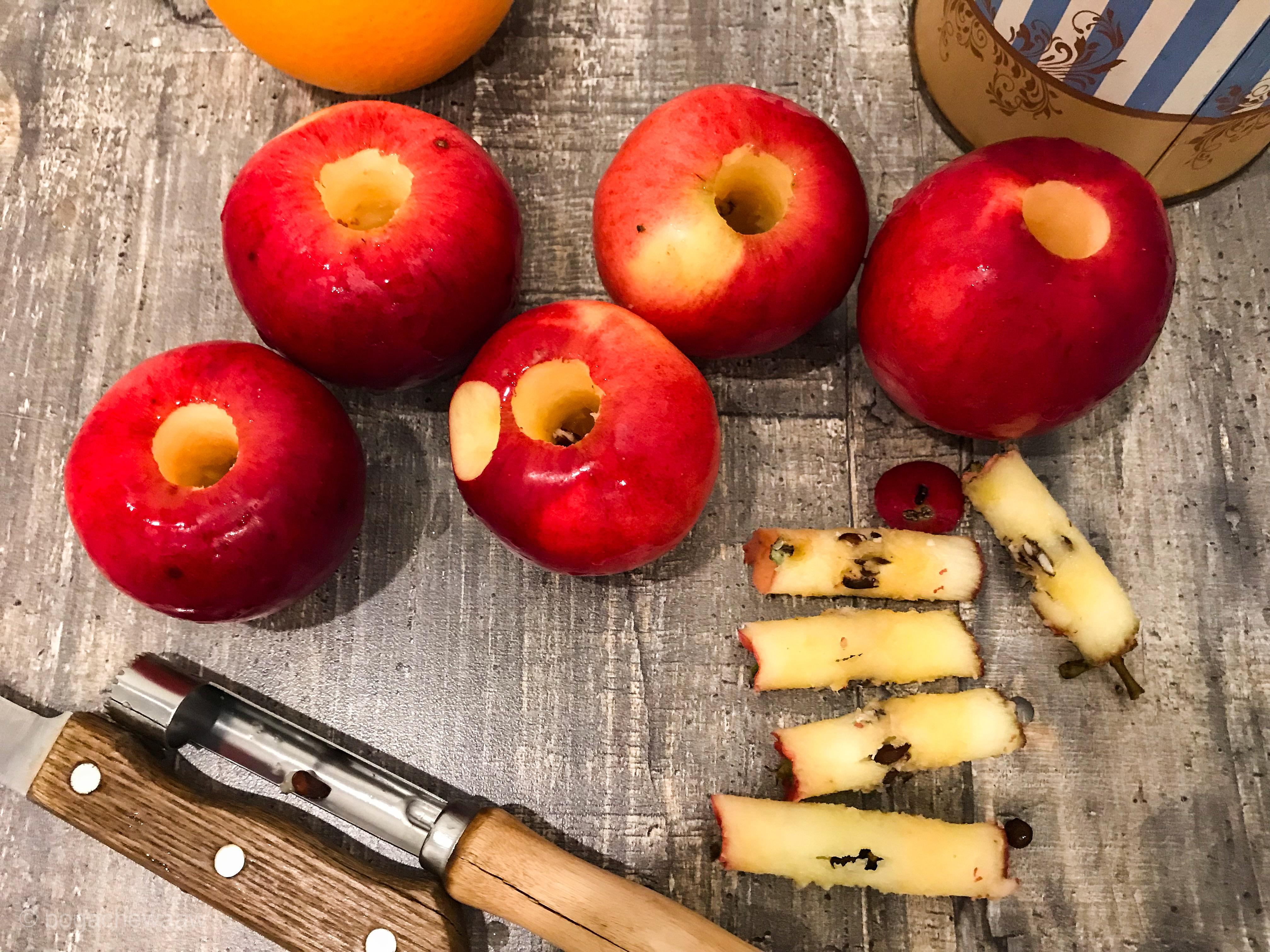 Яблоки без сердцевинок