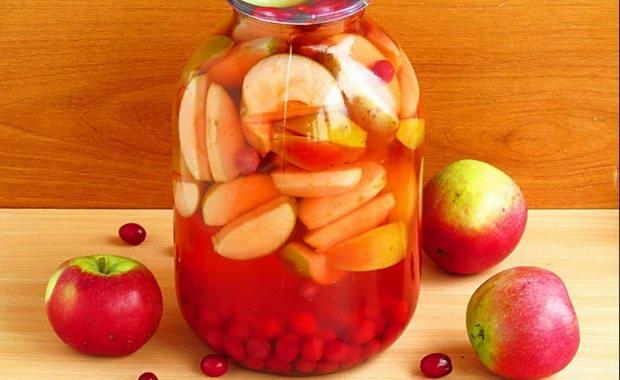 Яблочно-вишнёвый компот