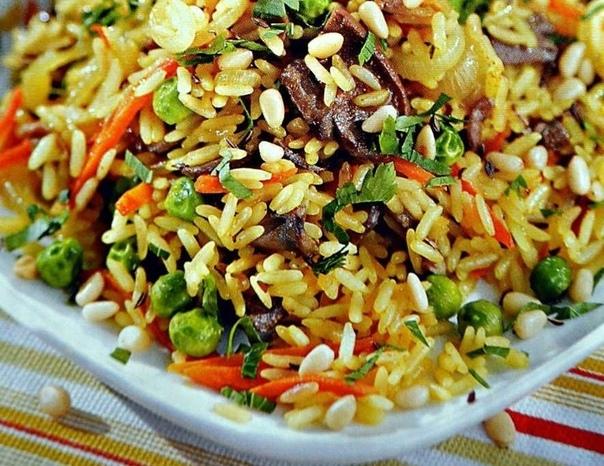 Овощной плов с рисом, булгуром, пшеном или перловкой
